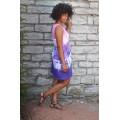 šaty krátké fialovo-růžová batika do vel. 7XL