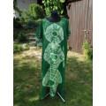 šaty z organtýnu zelená batika do vel. 7XL