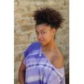 tunika organtýnová fialová batika