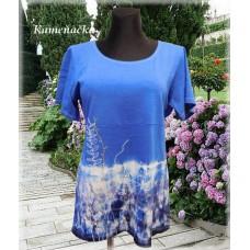 modrá batikovaná tunika do vel. 7XL