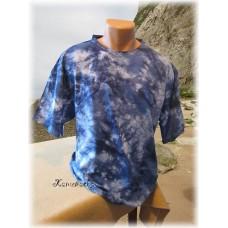 batika modro-bílá